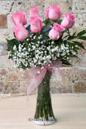 7 Adet Pembe Ekvator Gülü ile hazırlanan butik çiçek tasarımı ile sevdiklerinize aşkınızın masum bir donuşunu sunabilirsiniz. Yaklaşık Ürün Boyutu : 55 cm