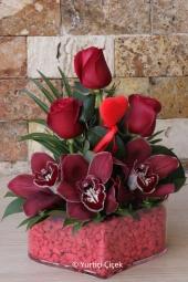 Ekvator Gülü : 15 Adet Boyu : 80 cm   En özel kırmızı güller aşkınızı en güzel şekilde ifade edecek. En kaliteli Ekvator Gülleri sevdiklerinize özel vazosunda gösterişli dizayn edilir.