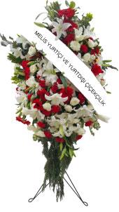 Kırmızı ve Beyaz Çiçeklerden Ayaklı Ferforje  Ayaklı ferforje üzerine kırmızı ile beyaz tonlarda çiçeklerden hazırlanmış Açılış, düğün, nikah gibi organizasyonlarda sizi en güzel şekilde temsil edecek yüksek boylu ferforje aranjmanı. Yaklaşık Ürün Boyutu : 1,6 metre