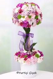 Aşkınızı anlatmanın en güzel yolu kalp mikada 3 kandil orkide ve 7 adet kırmızı gül aranjman dizaynı ile olacak.