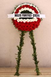 Kırmızı ve Beyaz Çiçeklerden Cenaze Çelengi Sevdiklerinizin üzgün günlerinde yanlarında olmak ve acılarını paylaşmak için cenaze çelengi gönderin. Yaklaşık Ürün Boyutu : 1,7 metre
